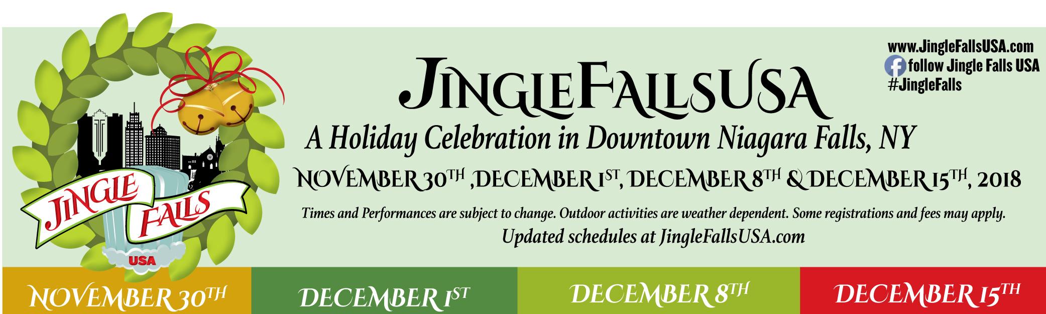Jingle Falls 2018 Banner